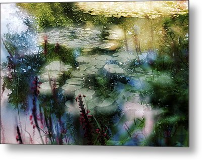 Metal Print featuring the photograph At Claude Monet's Water Garden 2 by Dubi Roman