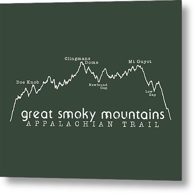 At Elevation Profile Gsm White Metal Print by Heather Applegate