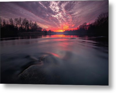 Metal Print featuring the photograph At End Of The Day by Davorin Mance