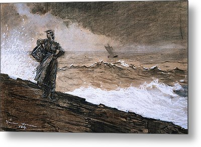 At High Sea Metal Print by Winslow Homer