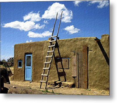 At Home Taos Pueblo Metal Print by Kurt Van Wagner