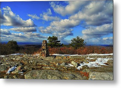 At In Nj Sunrise Mountain Metal Print by Raymond Salani III