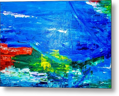 Metal Print featuring the painting At Sea by Piety Dsilva