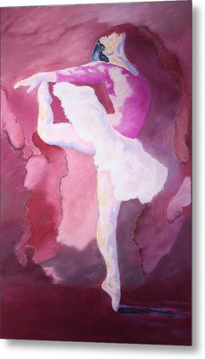 Metal Print featuring the painting At The Ballet by Nancy Jolley