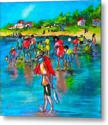 At The Beach Metal Print by Barbara O'Toole