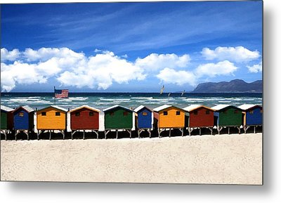 Metal Print featuring the photograph At The Beach by David Dehner