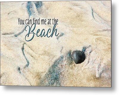 At The Beach Metal Print by Lori Deiter