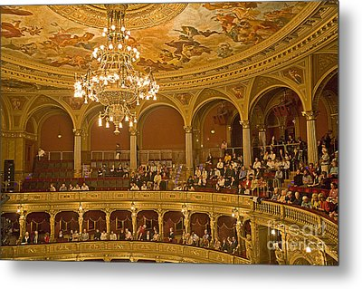 At The Budapest Opera Metal Print