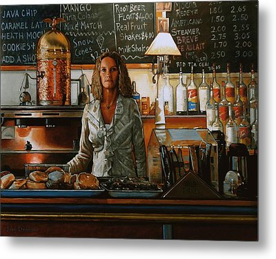 At The Coffee Mill Metal Print by Doug Strickland