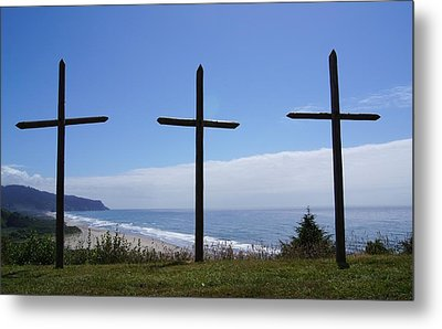 At The Cross Metal Print by Angi Parks