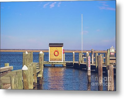 Metal Print featuring the photograph At The Dock by Colleen Kammerer