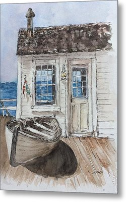 At The Dock Metal Print by Stephanie Sodel