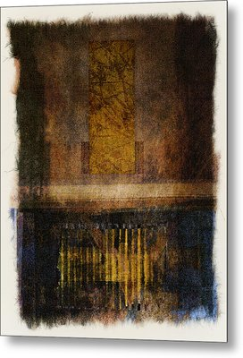 At The Gate Photomontage Metal Print by Carol Leigh