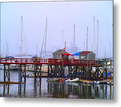 At The Habor Metal Print