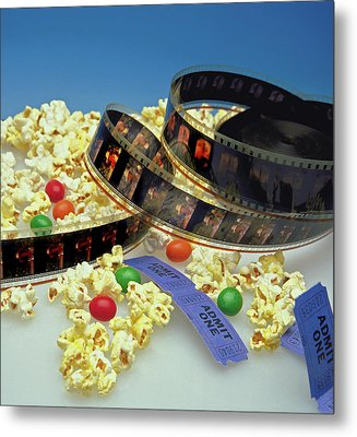 At The Movies  Metal Print by Marie Hicks