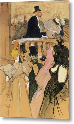 At The Opera Ball Metal Print by Henri de Toulouse-Lautrec