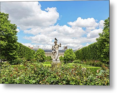 Metal Print featuring the photograph At The Palais Royal Gardens by Melanie Alexandra Price