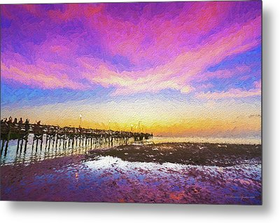 At The Pier Metal Print by Marvin Spates