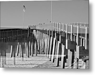 At The Pier Metal Print by Susan Leggett