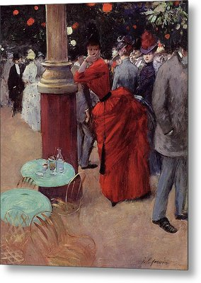 At The Public Garden Metal Print by Jean Louis Forain