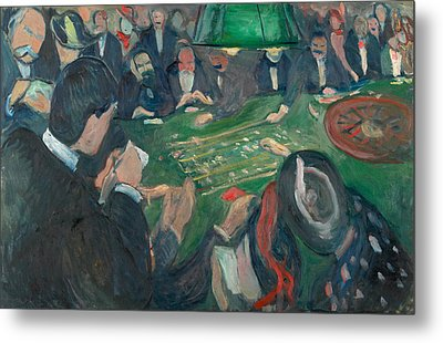 At The Roulette Table In Monte Carlo Metal Print