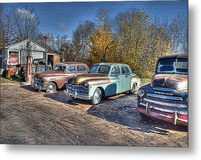 At The Service Station Metal Print