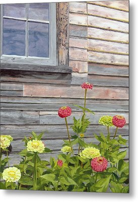 Metal Print featuring the painting At The Shelburne by Lynne Reichhart