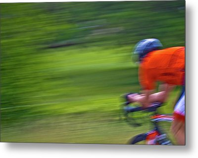 Metal Print featuring the photograph At The Speed Of Light by Linda Unger