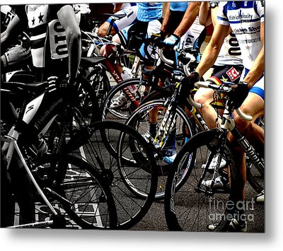 At The Starting Wait Metal Print by Steven Digman