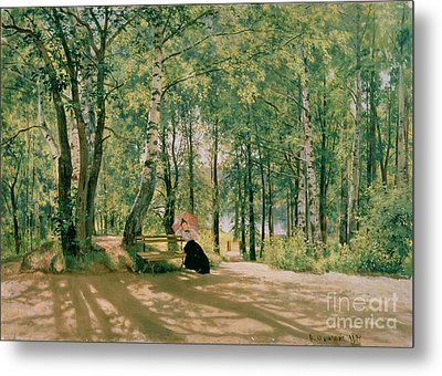 At The Summer Cottage Metal Print by Ivan Ivanovich Shishkin