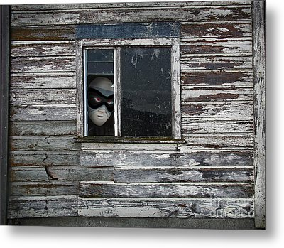 At The Window Metal Print