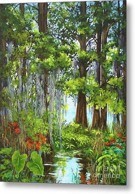 Metal Print featuring the painting Atchafalaya Swamp by Dianne Parks
