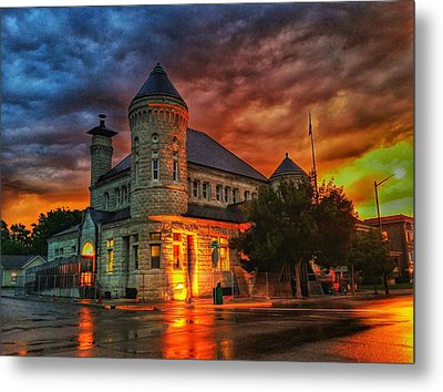 Atchison Post Office  Metal Print by Dustin Soph