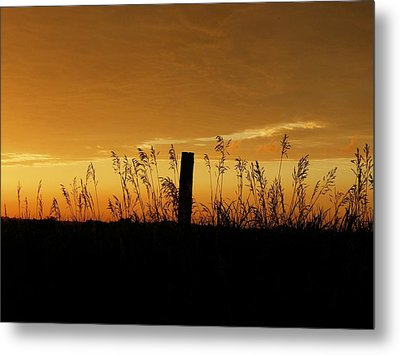 Atchison Sunset Metal Print by Dustin Soph