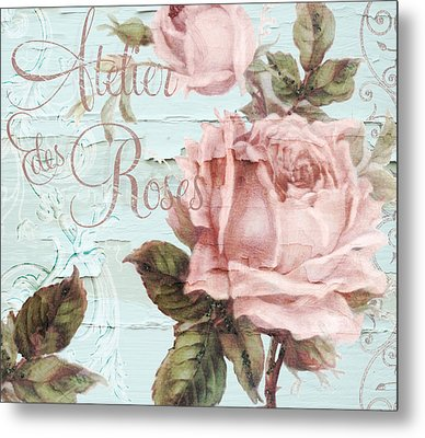 Atelier Des Roses Metal Print by Mindy Sommers
