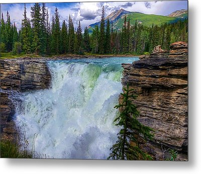 Athabasca Falls, Ab  Metal Print by Heather Vopni