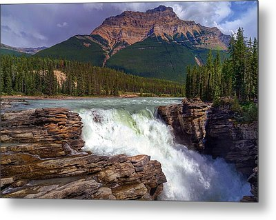 Athabasca Falls Metal Print by Heather Vopni