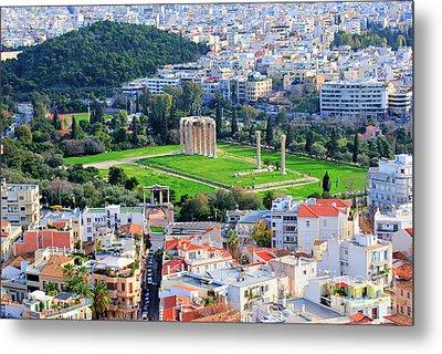 Athens - Temple Of Olympian Zeus Metal Print by Hristo Hristov