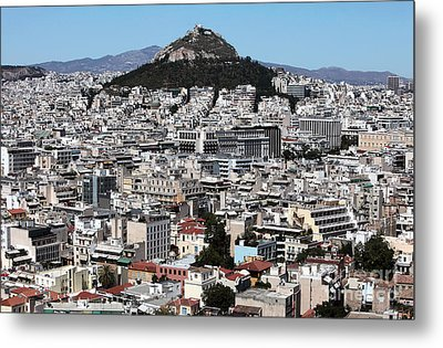 Athens City View Metal Print by John Rizzuto