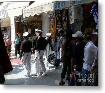 Athens Sailors Metal Print by David Bearden