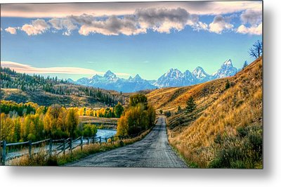 Atherton View Of Tetons Metal Print by Charlotte Schafer
