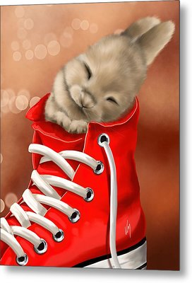 Athletic Rest Metal Print by Veronica Minozzi
