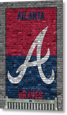 Atlanta Braves Brick Wall Metal Print by Joe Hamilton