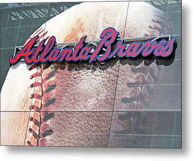 Metal Print featuring the photograph Atlanta Braves by Kristin Elmquist
