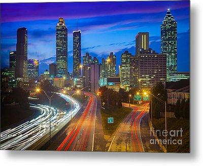 Atlanta Downtown By Night Metal Print