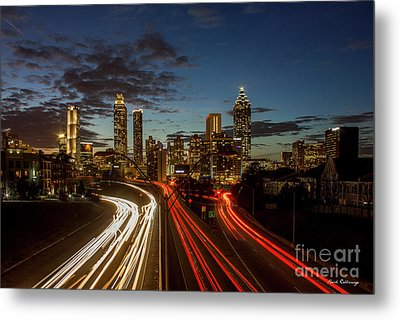 Metal Print featuring the photograph Atlanta Downtown Infusion Atlanta Sunset Cityscapes Art by Reid Callaway