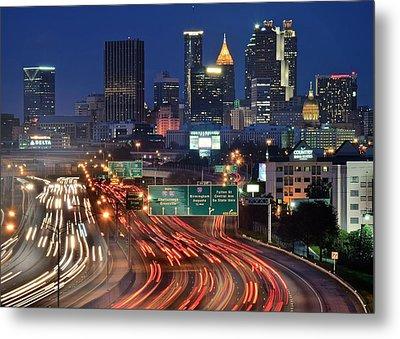 Atlanta Heavy Traffic Metal Print