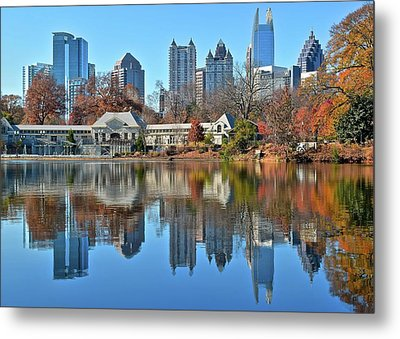 Atlanta Reflected Metal Print by Frozen in Time Fine Art Photography
