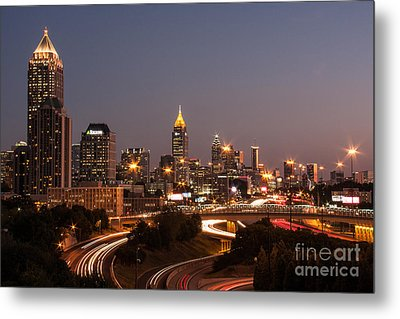 Atlanta Skyline - Scad Metal Print