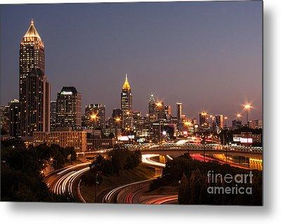 Atlanta Skyline - Scad Metal Print